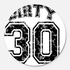 Dirty 30 Marbled 1 Round Car Magnet
