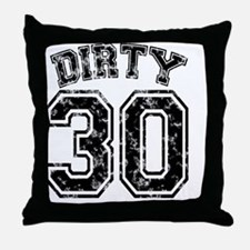 Dirty 30 Marbled 1 Throw Pillow