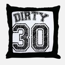 Dirty 30 Speckled Throw Pillow