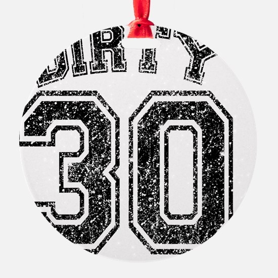 Dirty 30 Speckled Ornament