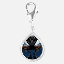 Werewolf Silver Teardrop Charm