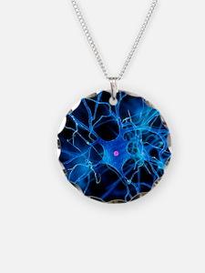 Nerve cell, artwork Necklace