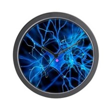 Nerve cell, artwork Wall Clock