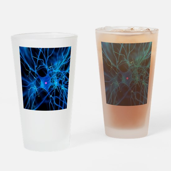Nerve cell, artwork Drinking Glass