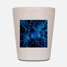 Nerve cell, artwork Shot Glass