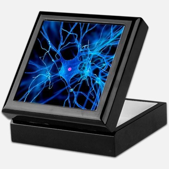 Nerve cell, artwork Keepsake Box