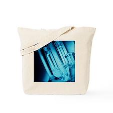 Assortment of laboratory glassware Tote Bag