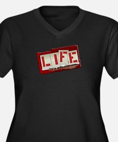Musical Life Women's Plus Size V-Neck Dark T-Shirt