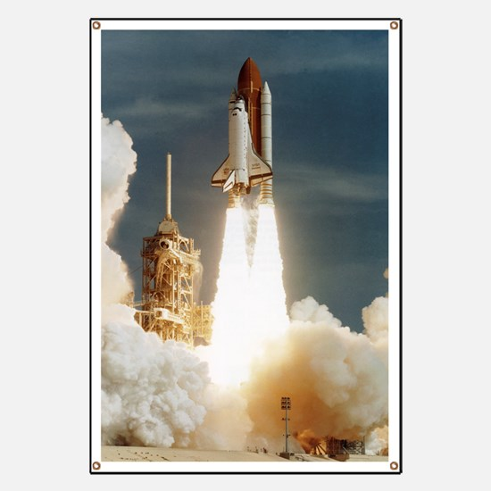 Launch of shuttle mission STS-70, July 13 1 Banner
