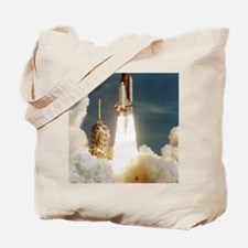 Launch of shuttle mission STS-70, July 13 Tote Bag