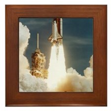 Launch of shuttle mission STS-70, July Framed Tile