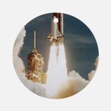 Launch of shuttle mission STS-70, J Round Ornament
