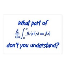 Calc Eq Blue  Postcards (Package of 8)