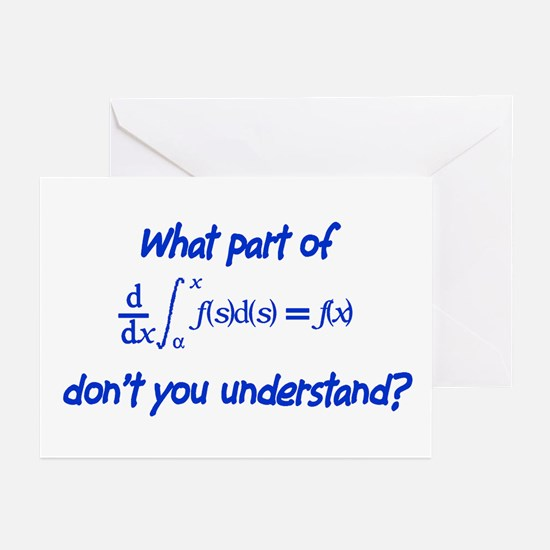 Calc Eq Blue  Greeting Cards (Pk of 10)
