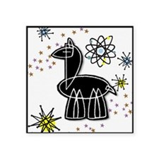"Llama Large Square Sticker 3"" x 3"""