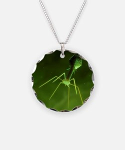 Bacteriophage, artwork Necklace