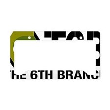 The 6th Branch Mark Large License Plate Holder