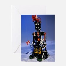 Lego humanoid robot known as Elektra Greeting Card