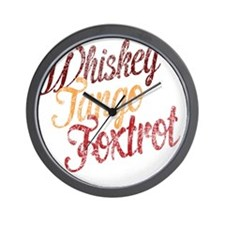Whiskey Tango Foxtrot Vintage Dark Desi Wall Clock
