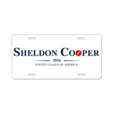 Sheldon Cooper for President Aluminum License Plat