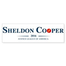 Sheldon Cooper for President Bumper Bumper Sticker