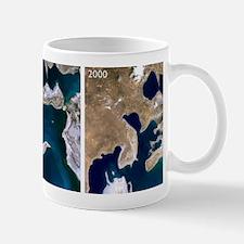 Aral Sea reduction 1973-2000 Mug