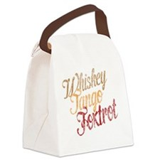 Whiskey Tango Foxtrot Vintage Dar Canvas Lunch Bag