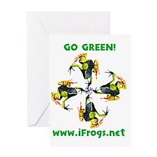 iFrogs.net medicine wheel logo Greeting Card