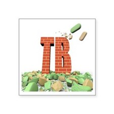 """Tuberculosis resistance to  Square Sticker 3"""" x 3"""""""