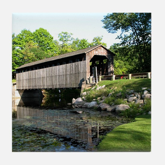 Fallasburg Covered Bridge Tile Coaster