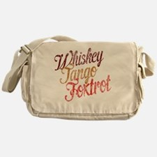 Whiskey Tango Foxtrot Vintage Design Messenger Bag