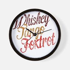Whiskey Tango Foxtrot Vintage Design Wall Clock