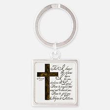 Plan of God Jeremiah 29:11 Square Keychain