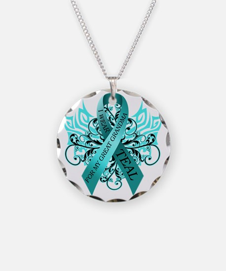 I Wear Teal for my Great Gra Necklace