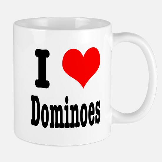 I Heart (Love) Dominoes Mug