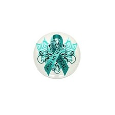 I Wear Teal for my Wife Mini Button