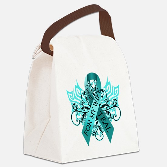 I Wear Teal for my Wife Canvas Lunch Bag