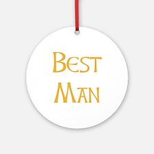 Sherbet Best Man Ornament (Round)