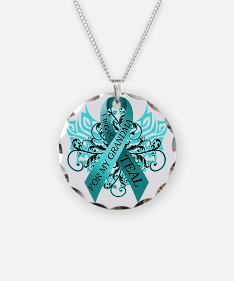 I Wear Teal for my Grandma Necklace