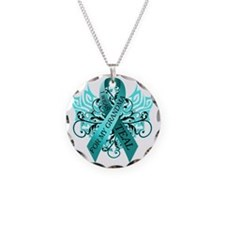 I Wear Teal for my Grandma Necklace Circle Charm