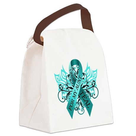 I Wear Teal for my Aunt Canvas Lunch Bag
