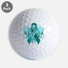 I Wear Teal for Myself Golf Ball