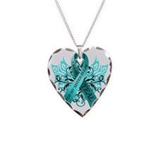 I Wear Teal for my Sister in  Necklace Heart Charm