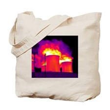 Cooling towers, thermogram Tote Bag