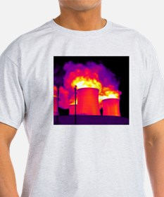 Cooling towers, thermogram T-Shirt