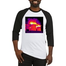 Cooling towers, thermogram Baseball Jersey