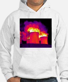 Cooling towers, thermogram Hoodie