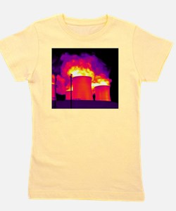 Cooling towers, thermogram Girl's Tee