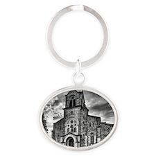 San Vicente church Oval Keychain