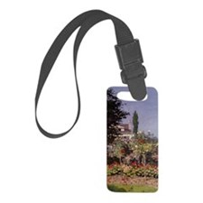 Monet Flowers in the Garden Luggage Tag